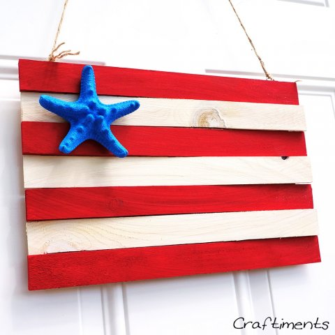 Patriotic-wood-shim-and-starfish-flag-4
