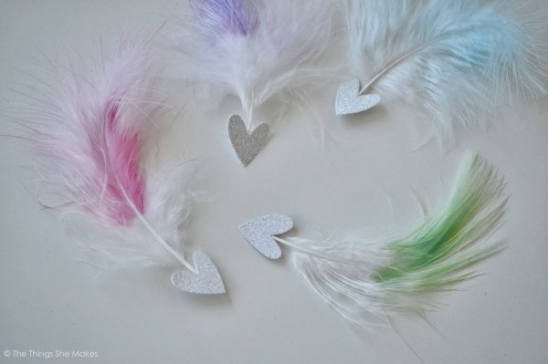 Dip Dyed Feather Arrows