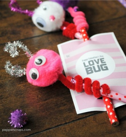 Love Bug Pencil Toppers
