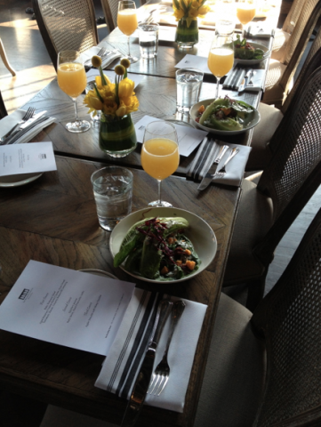 Beautiful table for Brunch at The Boarding House