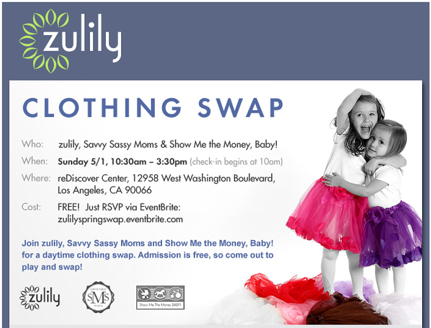 Los Angeles Clothing Swap with zulily - Savvy Sassy Moms