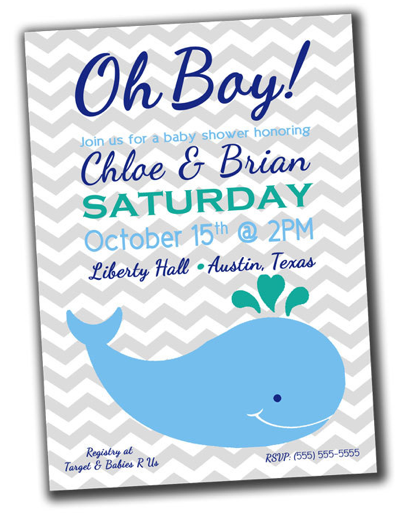 Whale Baby Shower Theme Savvy Sassy Moms