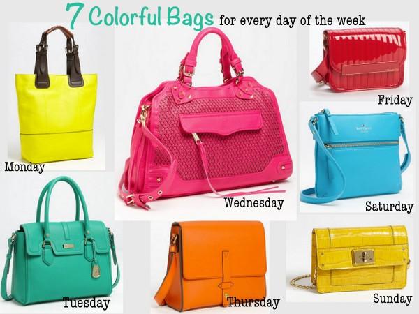 7 Colorful Handbags
