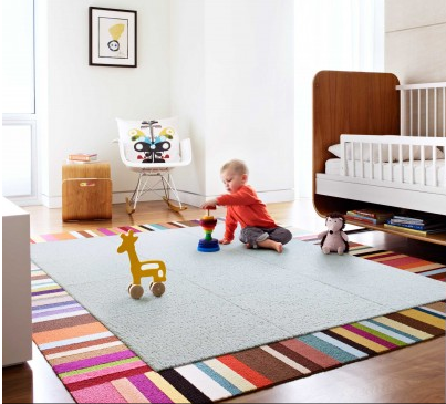 Creating A Custom Rug With Stylish Flor Carpet Tiles Savvy Sy Moms