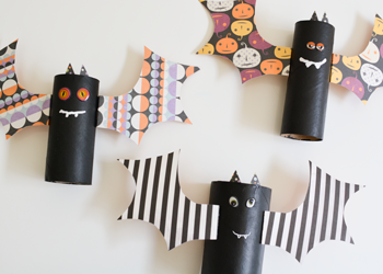 halloween toilet paper roll bat craft