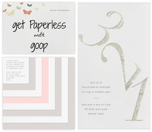 goop for Paperless Post