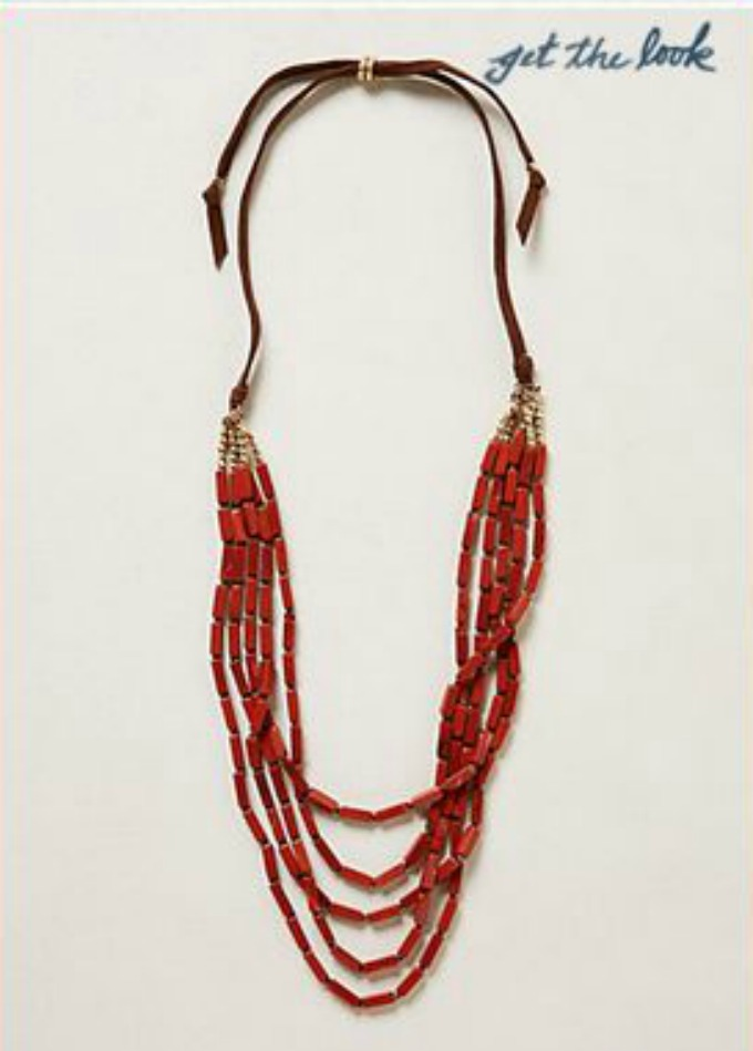 Anthropologie cherry harvest necklace