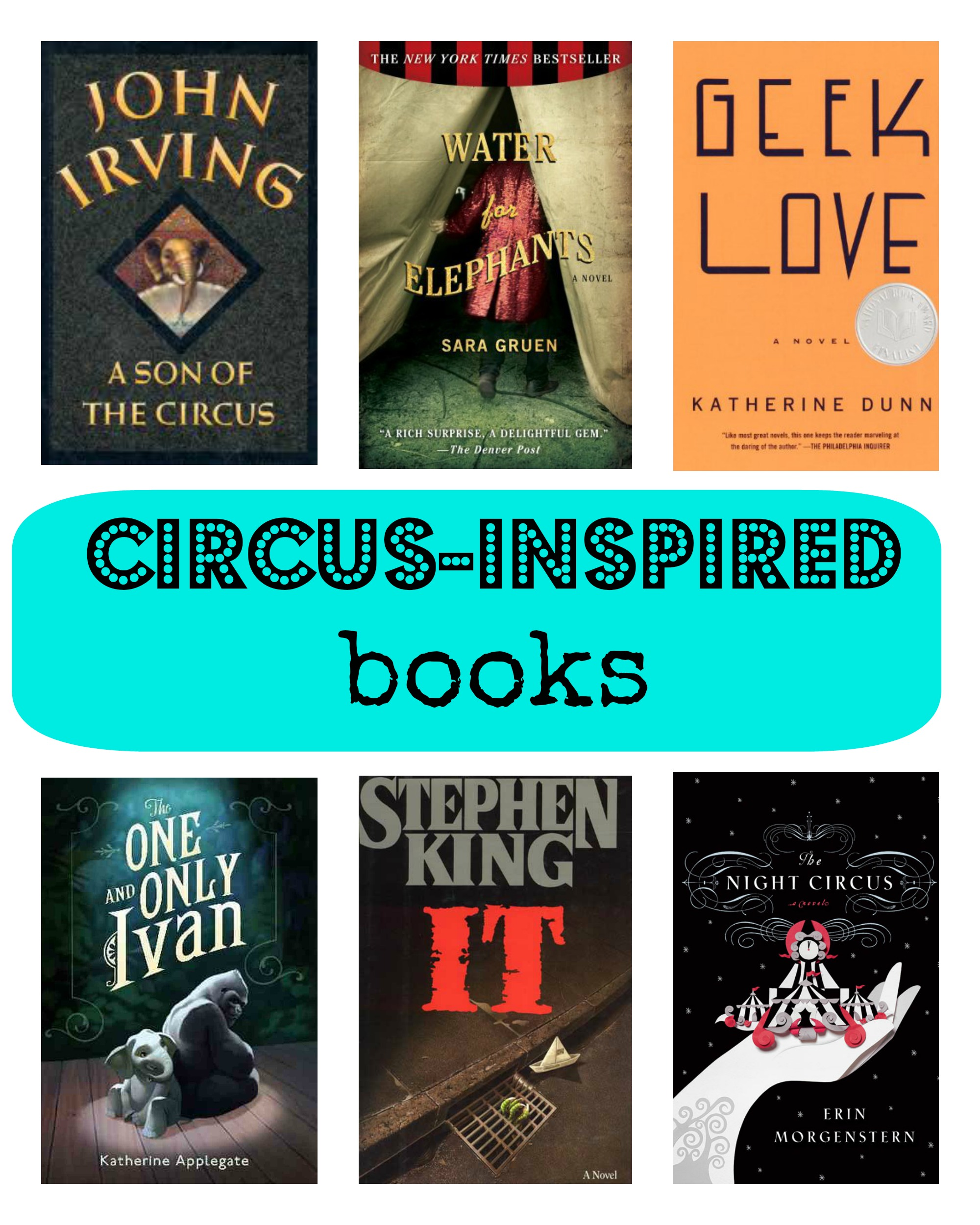circus inspired books