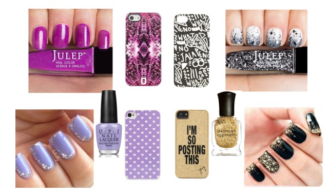 phone cases and nails