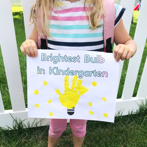 Simple back to school craft for kindergarteners - Savvy