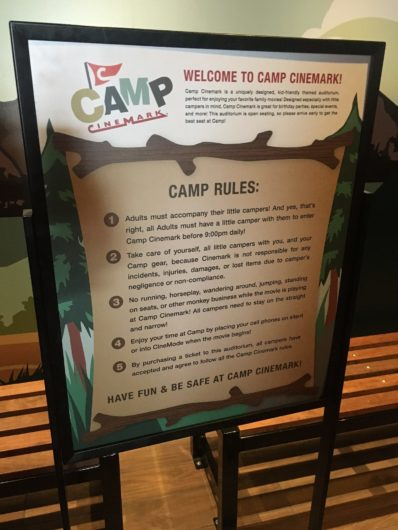 Camp Cinemark movie theaters