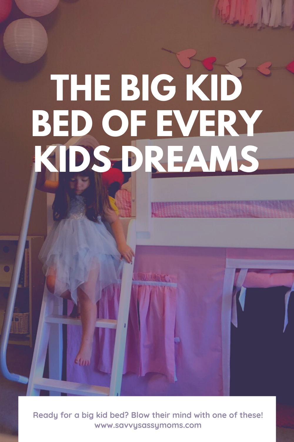 Girl on bunk bed