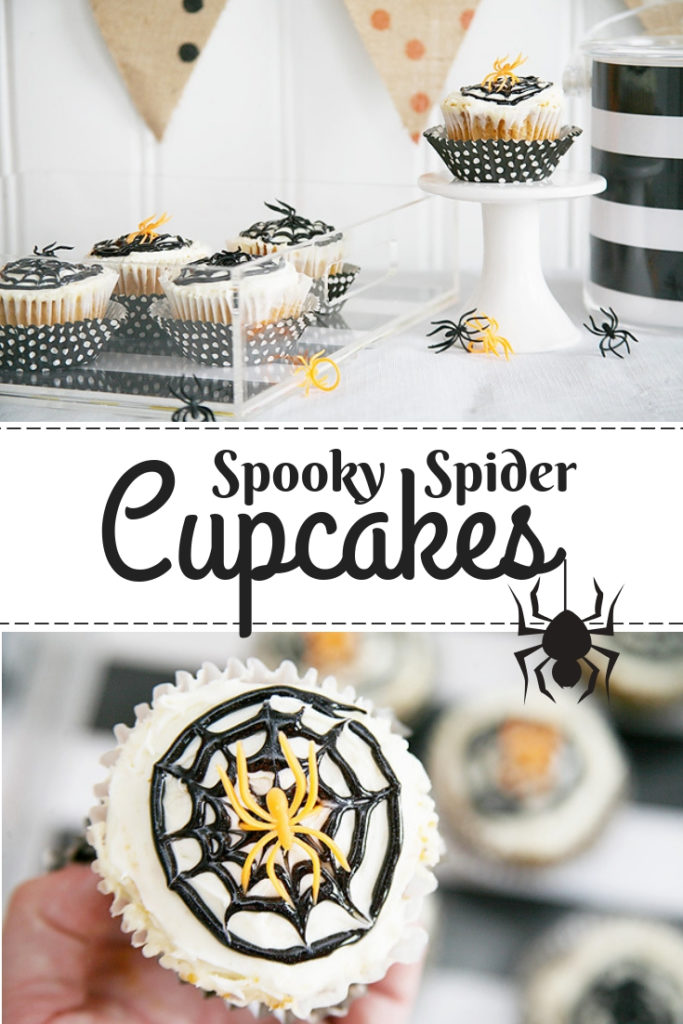 Spooky Spider Cupcakes for Halloween
