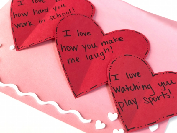 Write love notes to your kids for Valentine's Day - Savvy
