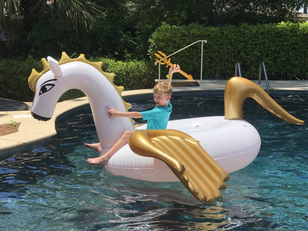 Large pegasus float for Percy Jackson party