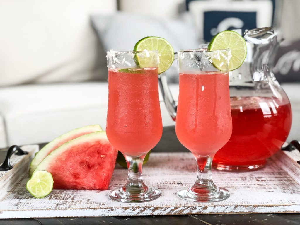 Watermelon Coconut Cocktail for Summer Entertaining