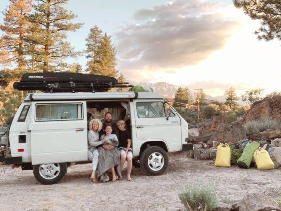 road trip in VW Van