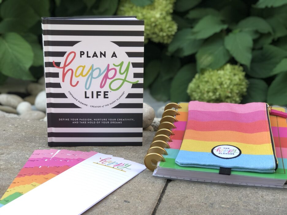 Plan a happy life book and happy planner accessories