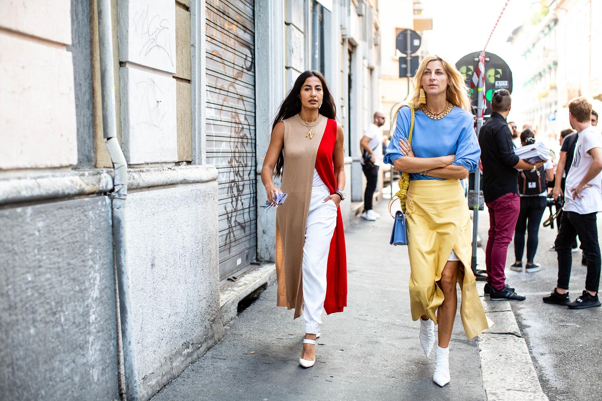women walking down the street